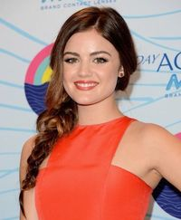 lucy hale side braid look