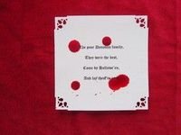 Blood stained Halloween party invites