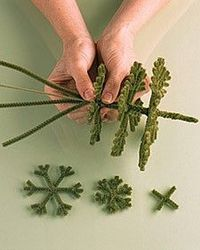 pipe-cleaner christmas trees easy to make!