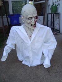 How to make quick, cheap and easy armatures for props that appear to be coming out of the ground (Zombies, etc.).