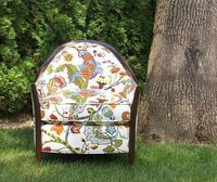 LOVE the fabric on this chair! Jacobean Fabrics, Fabric by the Yard - Calico Corners