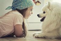 Little Girl, little dog :)