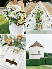 found this wedding on Style Me Pretty while planning mine. Always a favorite. #fall #feathers #france #birch #classy