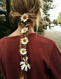Flowers in my hair.