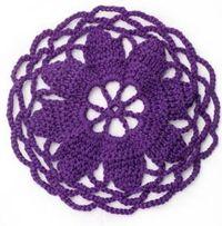 Flower center circular motif - free crochet pattern