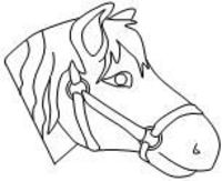Pin free printable stick horse head template on pinterest