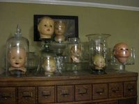 Decorating with doll heads