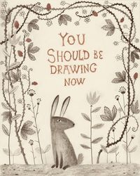 pretty sweet...a lovely drawing to remind you to draw more?