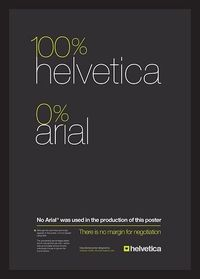100% Helvetica 0% Arial Typographic Poster by imjustcreative, via Flickr