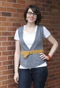 Put a Belt On It Vest pattern- cannot wait to make this! For me!