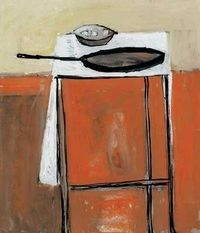 WILLIAM SCOTT :: STILL LIFE WITH FRYING PAN, c1954