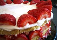 strawberries, cream, and cream cheese!