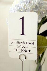 10 Wedding Reception Table Number Cards by ViennaIsLove on Etsy, $11.99