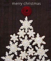Sugar Cookie display idea - snowflakes made into a tree