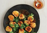 Scallops with Spice Oil. Oh, yes.
