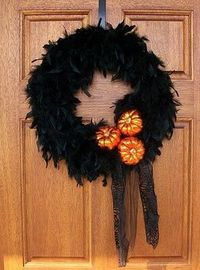 Feather wreath.