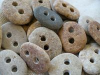 Small stone buttons