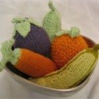Fruit and Veggie Baby Ratttles Stuffed Free Knitting Patterns