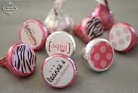 ZEBRA BABY - Printable Candy Stickers - Baby Shower - DIY Zebra Baby Collection - by Make Life Cute. $12.50, via Etsy.