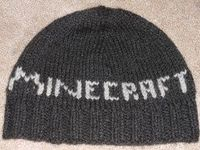 Free Minecraft Hat Knitting Pattern