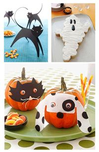 Masked #pumpkins, black cats, ghost cakes and more spooky #Halloween party ideas from