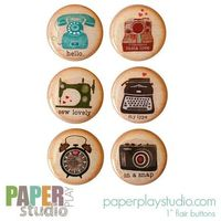 Image of Attic Lovelies - Set of 6 flair buttons