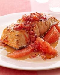 Glazed Salmon with Spicy Grapefruit Relish