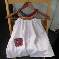 Mr. Micawber's Recipe for Happiness: A Sundress for Little C. This is a sort of talk you thru it tut on making the crochet edging and dress for a little girl. Very very cute. Involves sewing as well as crochet