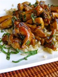 With this recipe, you can get a restaurant-quality dish of Spicy Thai Basil Chicken in about 40 minutes. Perfect to serve with some brown rice and green beans!