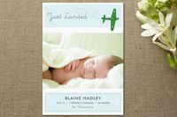 """Fly By Baby Birth Announcements"" on Minted."