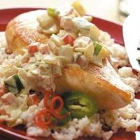 Chicken with Creamy Jalapeno Sauce Recipe