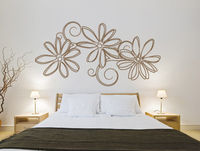 Floral Outlines wall decal for home decoration