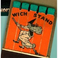 Vintage Halloween Ephemera ~ Wich Stand Drive In Feature Matchbook * Los Angeles