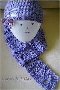 Free Crochet Butterfly Hat and Scarf Pattern.