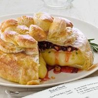 dried Cherries, Pecans, Rosemary Brie en croute
