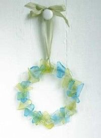 seaglass wreath.