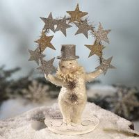 Love this snowman juggling silver stars
