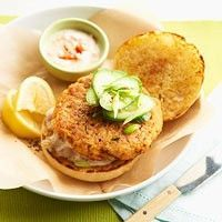 Double-Play Salmon Burgers BHG