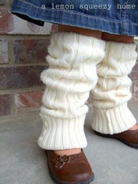 Girls legwarmers from sweaters...too cute!