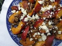 Peaches w/ Walnuts & Feta Cheese