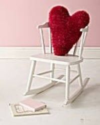 crochet heart pillows