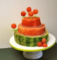 watermelon cake - great sub for a regular cake