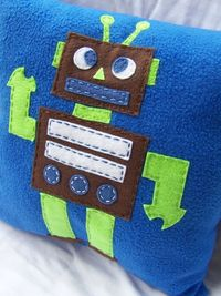 robot pillow