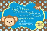 Baby Shower Invitation Monkey Printable by AsYouWishCreations4u, $12.00