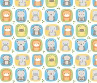 Animal Babies fabric by misstiina on Spoonflower - custom fabric
