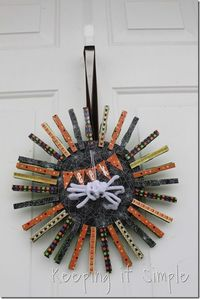 clothespostHalloween wreath