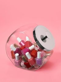 """""""Little bottles of nail polish can take over the bathroom. So I stash them in an old-fashioned glass candy jar."""" �€"""" Liz Caan, interior designer, Newton, Mass."""