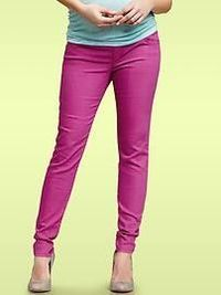 Pink Skinny Maternity Jeans.