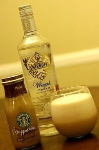 Starbucks Frappuccino and Whipped Cream Vodka. Seriously gonna have this