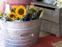 Lovely rustic galvanized tin party bucket.